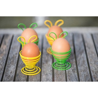 Coquetier couleur assorti rose orange vert ou jaune