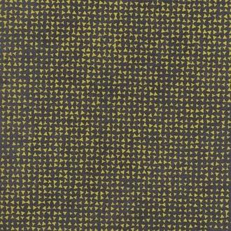Feuille papier Népalais petit triangle noir moutarde 50x70cm