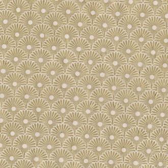 Feuille de papier lokta népalais fleurs or 50x70cm