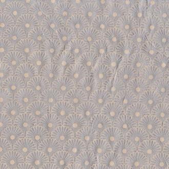 Feuille de papier lokta népalais fleurs argent 50x70cm