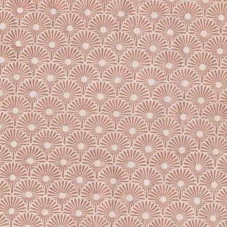 Feuille de papier lokta Népalais fleurs cuivre 50x70cm