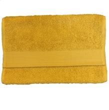 Achat en ligne Serviette invité 30x50cm en coton éponge bio jaune