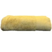 Achat en ligne Serviette de toilette 50x100cm en coton éponge bio jaune