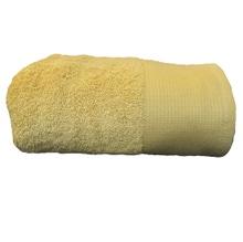 Achat en ligne Serviette de bain 100x150cm en coton éponge bio jaune