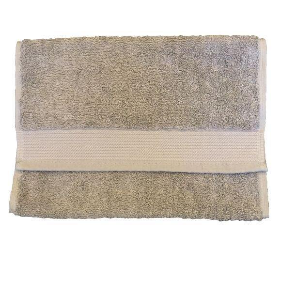 Serviette invité 30x50cm en coton éponge bio cendre