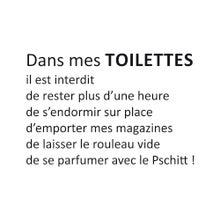 Achat en ligne Sticker autocollant toilettes A4