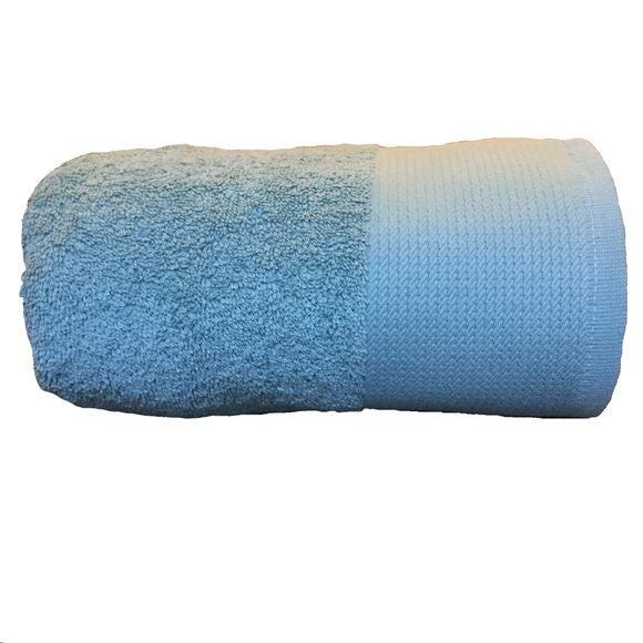 acquista online Asciugamano doccia in cotone bio azzurro 70x140cm