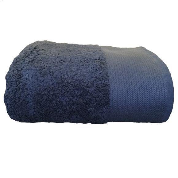 Serviette de douche 70x140cm en coton éponge bio denim