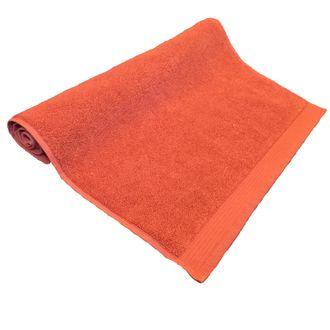 Tapis de bain en éponge biologique rouge terre cuite 50x80cm