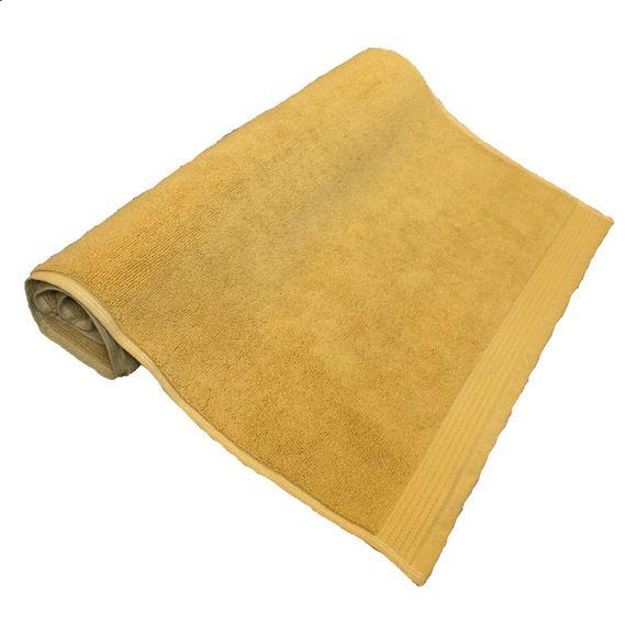 Tappeto da bagno in cotone biologico giallo 50x80cm