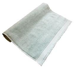 compra en línea Alfombra de baño felpa de algodón orgánico celeste (50 x 80 cm)