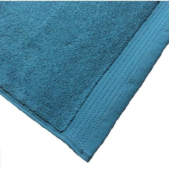 Achat en ligne Tapis de bain 50x80cm en coton éponge bio bleu tempête
