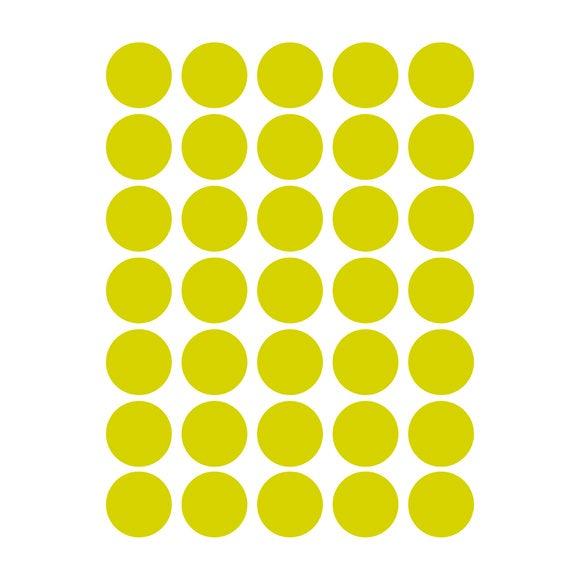 Achat en ligne Set de 40 stickers autocollants muraux pois dorés 25x35cm