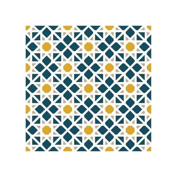 Achat en ligne Lot 4 stickers carreaux ciment Mosaique bleu beige 10x10cm