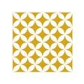 Lot 4 stickers carreaux ciment Croisillons beige 10x10cm