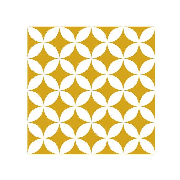 Achat en ligne Lot 4 stickers carreaux ciment Croisillons beige 10x10cm