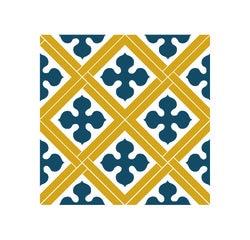 Achat en ligne Lot 4 stickers carreaux ciment Croix bleu beige 10x10cm