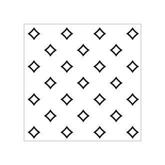 Lot 4 stickers carreaux ciment Losanges gris 10x10cm