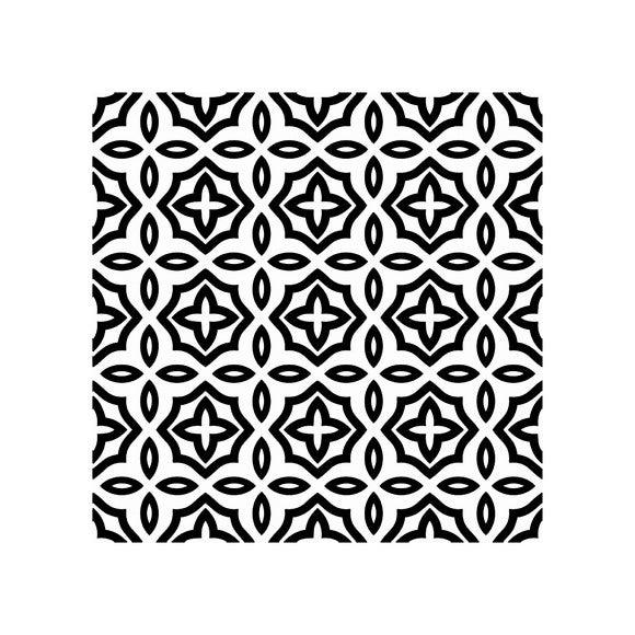 Achat en ligne Lot 4 stickers carreaux ciment gris bleu 10x10cm