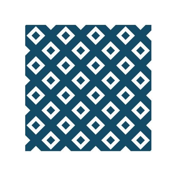 Achat en ligne Lot 4 stickers carreaux ciment Losange bleu 10x10cm