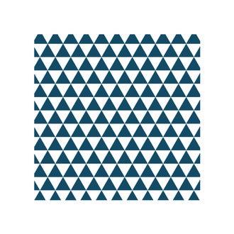 Lot 4 stickers carreaux ciment Losange bleu 10x10cm
