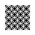 Lot 4 stickers carreaux ciment Cercle noir 10x10cm