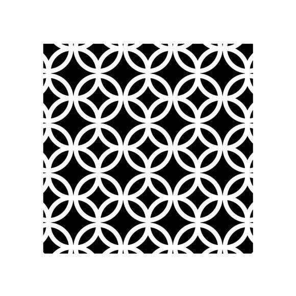 Lot 4 stickers carreaux ciment cercle noir 10x10cm pas Carreaux ciment pas cher