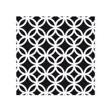 Achat en ligne Lot 4 stickers carreaux ciment Cercle noir 10x10cm