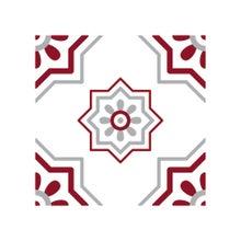 Achat en ligne Lot 4 stickers carreaux ciment Croix bordeaux gris 10x10cm
