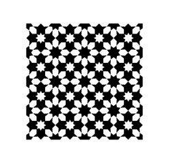 Achat en ligne Lot 4 stickers carreaux ciment Fleur noir 10x10cm