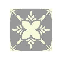 Achat en ligne Lot 4 stickers carreaux ciment Fleur gris 10x10cm
