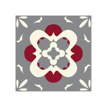 Achat en ligne Lot 4 stickers carreaux ciment Fleur 2 gris 10x10cm