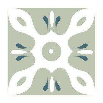 Lot 4 stickers carreaux ciment Graphique gris 15x15cm