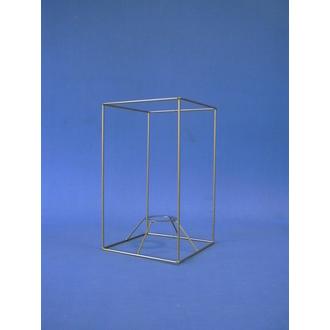 Carcasse carrée droit or 15x15x25cm