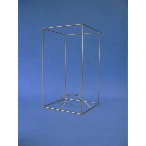 Carcasse carrée droit or 20x20x35cm