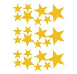 Achat en ligne Sticker petites étoiles or 25x35cm