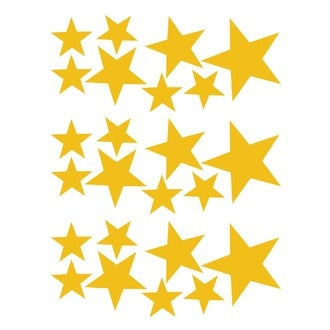 Sticker petites étoiles or 25x35cm