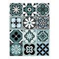 12 stickers carreaux ciment vintage bleu 48x70cm
