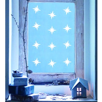Sticker vitre blanc étoiles 25x35cm