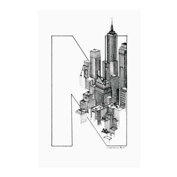 Achat en ligne Affiche new-york vincent 30x40cm