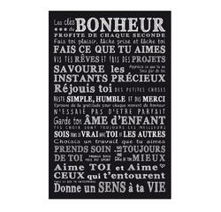 Achat en ligne Affiche clés du bonheur noir 30x40cm