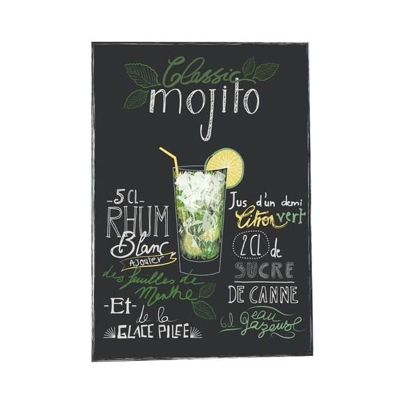 Affiche Recette Mojito Kmarlier 70x100