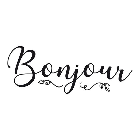 Achat en ligne Sticker bonjour noir 26x10cm