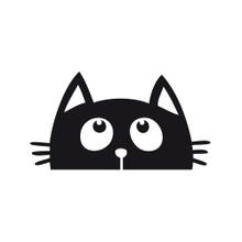 Achat en ligne Sticker interrupteur chat noir 10x10cm