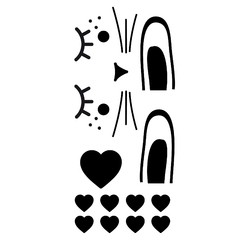 Achat en ligne Sticker porte lapin noir 49x1m10cm