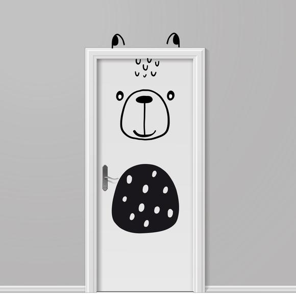 Achat en ligne Sticker porte ours noir 49x1m10cm