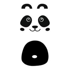 Achat en ligne Sticker porte pandas noir 49x1m10cm
