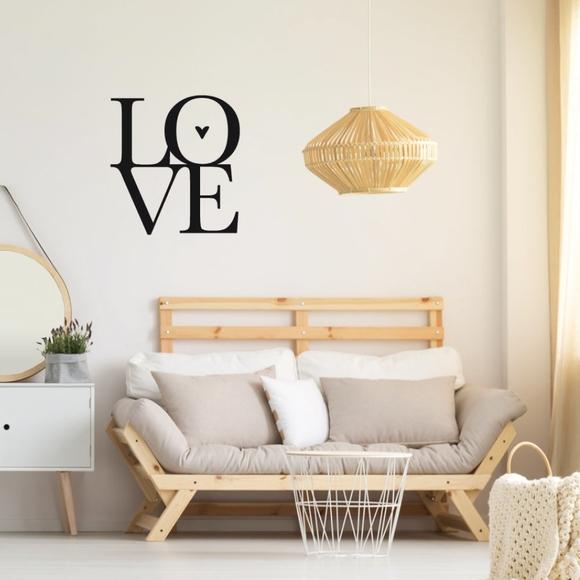 Achat en ligne Sticker love noir 48x70cm