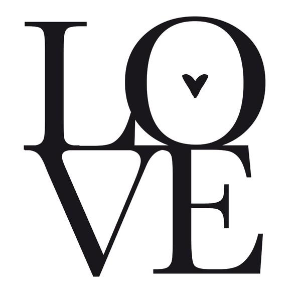 Sticker love noir 48x70cm