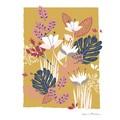 Affiche fleurs tropicales k.marlier 70x100cm